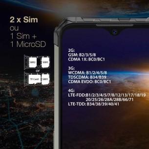 ULEFONE Armor 7 - Écran 6,3' Full HD+ OctaCore Ram 8GB Rom 128GB WiFi Bluetooth NFC Triple Cam Face ID Batterie 5500 mAh