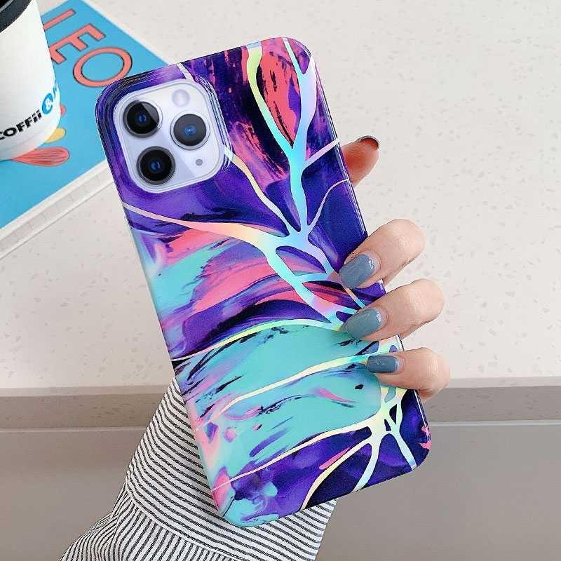 Coque Marbrée avec Reflet Chromé pour iPhone 11 Pro