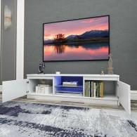 Meuble TV à LED avec 2...