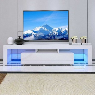 Meuble TV à LED avec Porte...